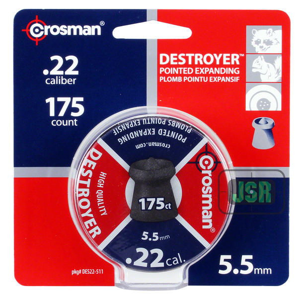 View Item Crosman Destroyer Hollow With Point Pellets [.22][14.3gr] [175 Tin]