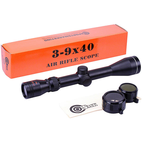 "View Item SMK 3-9x40 30/30 Reticle Zoom Air Rifle Scope Telescopic Sight Hunting 1"" Tube"