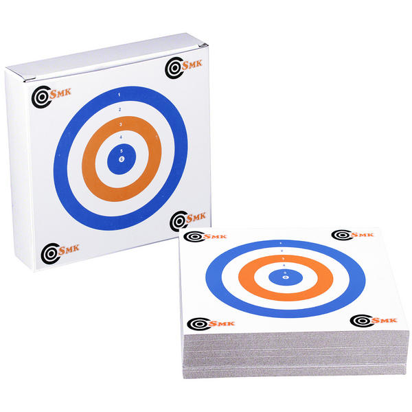 View Item SMK RWB THICK CARD 14cm Airgun Air Rifle Pistol Targets Hunting Practice Shooting 100 Pk