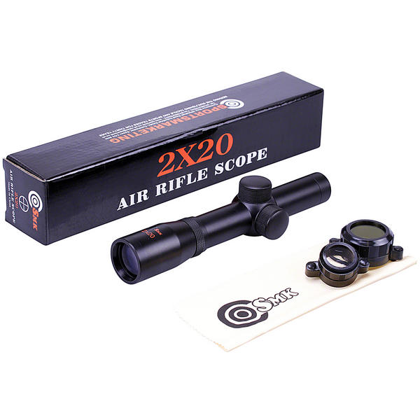 "View Item SMK 2x20 PISTOL Gun Scope Telescopic Sight 1"" Tube 30/30 Reticle"