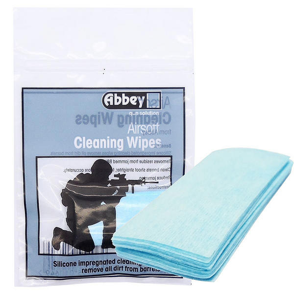 View Item Abbey Airsoft Cleaning Wipes Wipe Gun Pistol BB Maintenance Barrel Cleaning