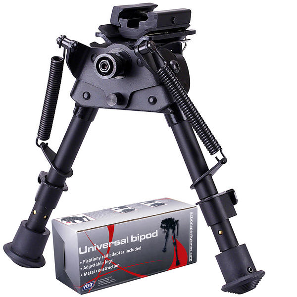 View Item ASG Harris Style Airgun Airsoft Rifle Bipod Picatinny RIS & QD Stud Fixing