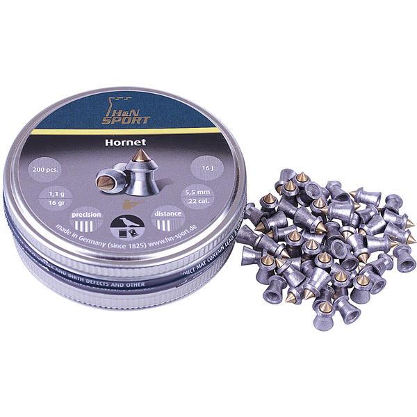View Item H&N Hornet Needle Point Pellets [.22][5.5mm][16.0gr][200]
