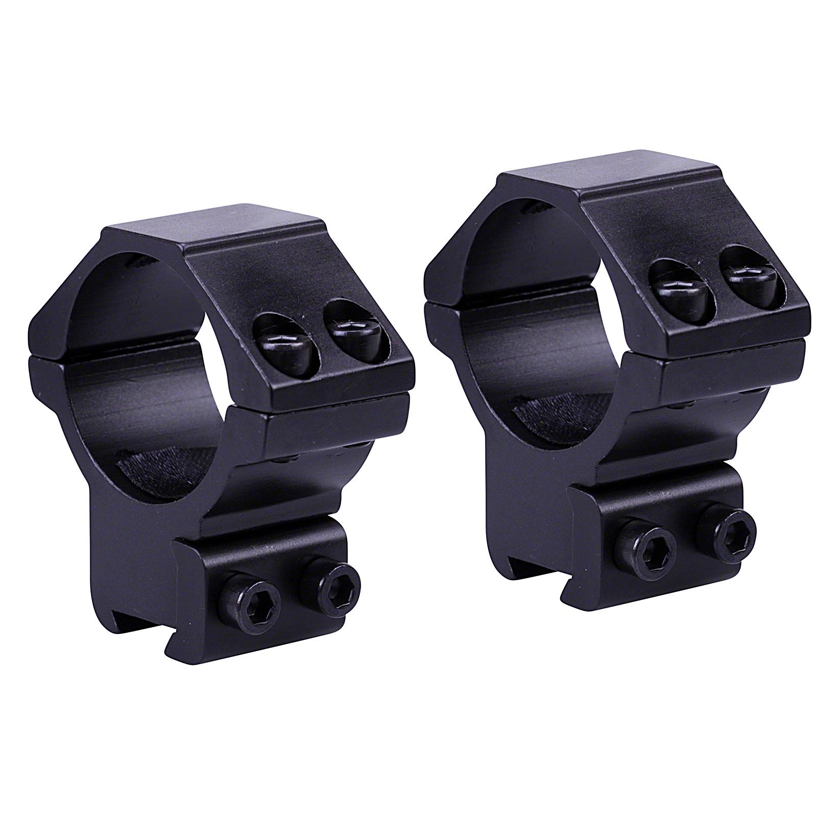 """Nikko Rifle Scope MOUNTS 2 Piece 1/"""" Tube MEDIUM 11mm 3//8/"""" Dovetail Airgun Rings"""