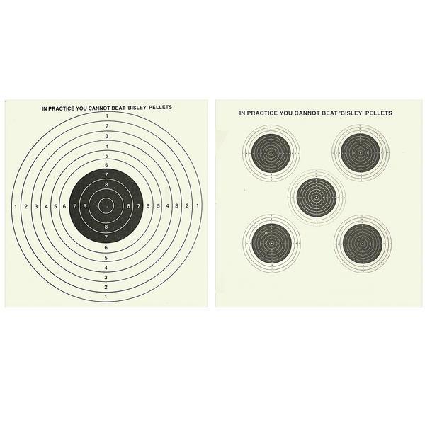 View Item Bisley 14cm Card Airgun Targets Air Rifle Pistol Hunting Practice Zero