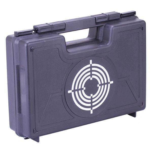 """View Item Black Pistol Case 13"""" Egg Shell Foam Lined - Max Pistol Length 10"""""""