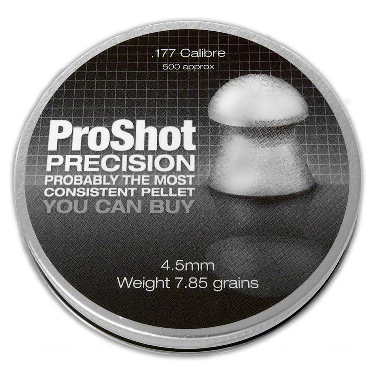 Sentinel ProShot Precision 177 Domed 45mm Air Rifle Gun Hunting Pellets 500 Target Thumbnail 2