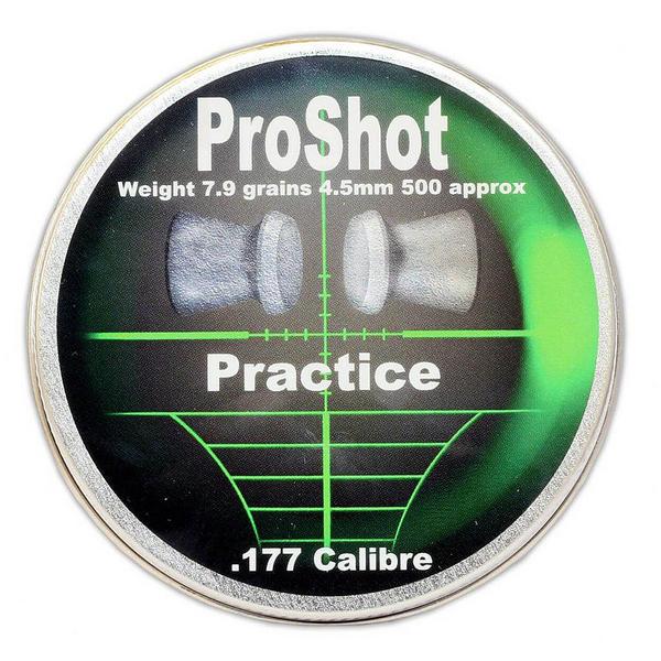 View Item ProShot Practice .177 Flat Head 4.5mm Air Rifle Gun Pellets 500 Target Pest 7.9gr