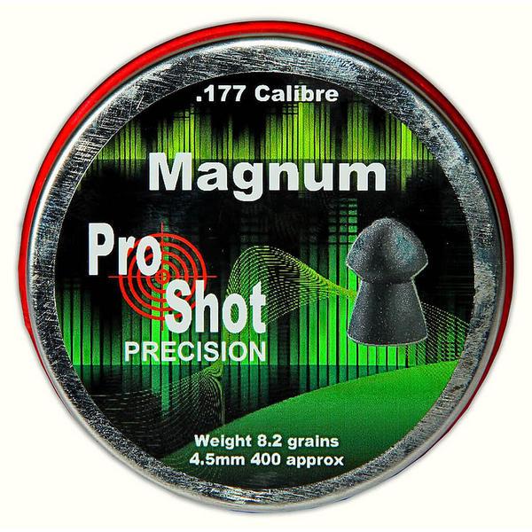 View Item ProShot Magnum .177 Domed 4.5mm Air Rifle Gun Pellets 400 Target Pest 8.2gr