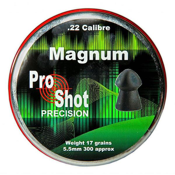 View Item ProShot Magnum .22 Domed 5.5mm Air Rifle Gun Pellets 300 Target Pest 17gr
