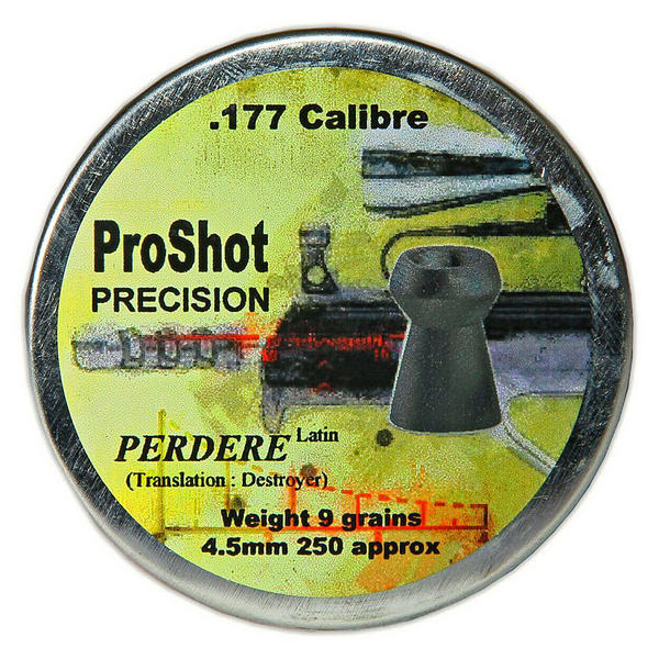 View Item ProShot Precision Perdere .177 4.5mm Air Rifle Gun Pellets 250 Target Pest 9gr