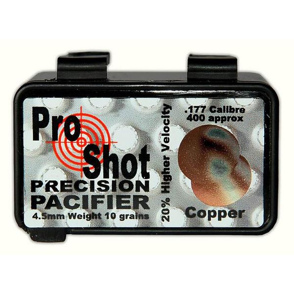 View Item ProShot Precision Pacifier Copper .177 Pellets 4.5mm Air Rifle Gun Pellets 400 10gr