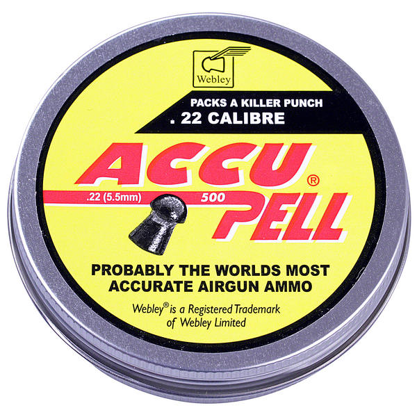 View Item Webley AccuPell .22 (5.5mm) Domed Pellets 500