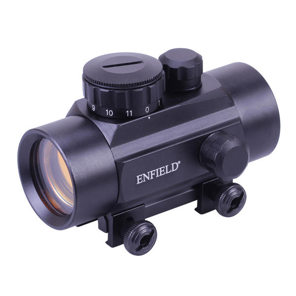 View Item Enfield 1x30 30mm Red Dot Sight Weaver / Picatinny Mount Air Rifle Pistol Airgun