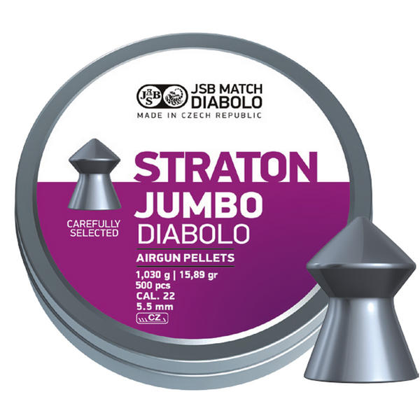 View Item JSB Jumbo Straton Pellets [.22][5.5mm][500]