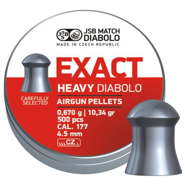 View Item JSB Exact Heavy Pellets [.177][4.52mm][500]
