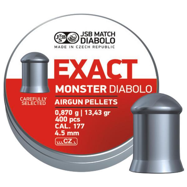 View Item JSB Exact Monster Pellets [.177][4.52mm][400]