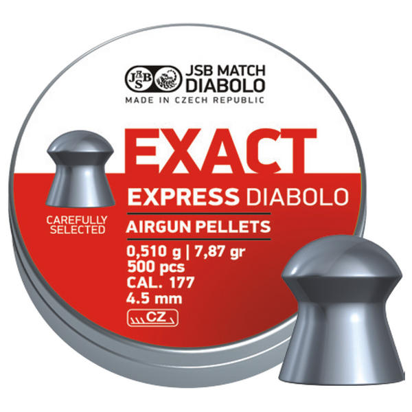 View Item JSB Exact Express Pellets [.177][4.52mm][500]