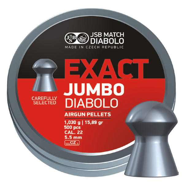View Item JSB Jumbo Exact Diablo Pellets [.22][5.51mm][500]