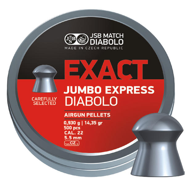 View Item JSB Jumbo Exact Express Diablo Pellets [.22][5.52mm][500]