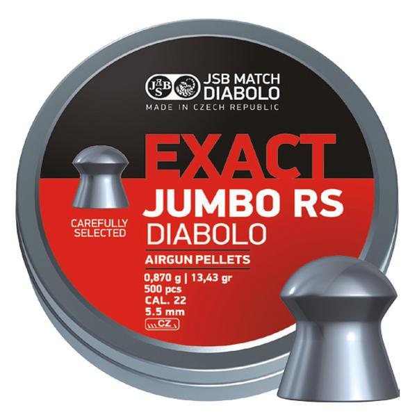 View Item JSB Jumbo Exact RS Diablo Pellets [.22][5.52mm][500]