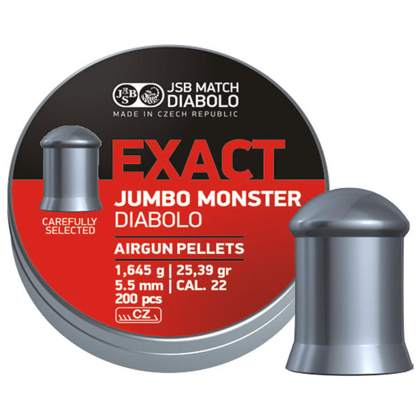 View Item JSB Jumbo Exact Monster Diablo Pellets [.22][5.52mm][200]