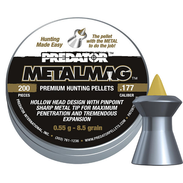 View Item JSB Diabolo Predator Metalmag Pellets [.177][4.50mm][200]