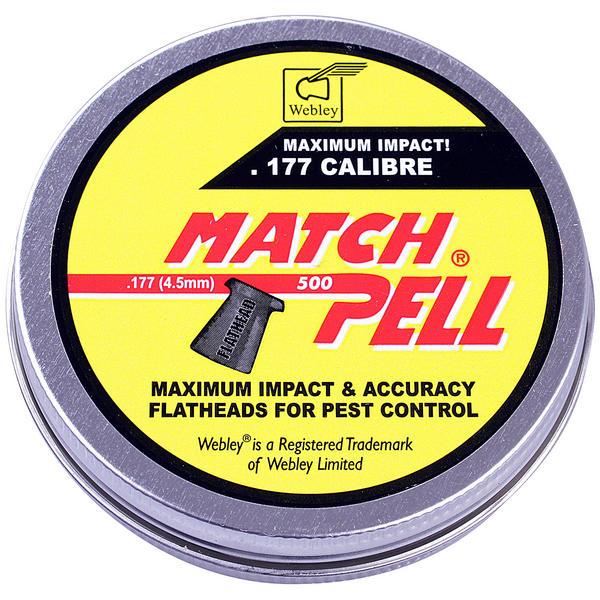 View Item Webley MatchPelll Airgun Pellets .177 [500]