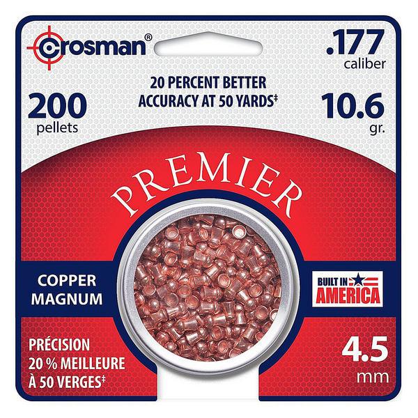 View Item Crosman Premier Copper Magnum Pellets [.177][10.6gr] [200 Tin] CPD77