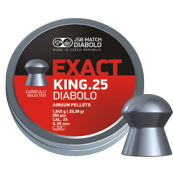 View Item JSB Exact King .25 6.35mm Pellets Diabolo Airgun Air Rfile Domed 25 Pellets 350
