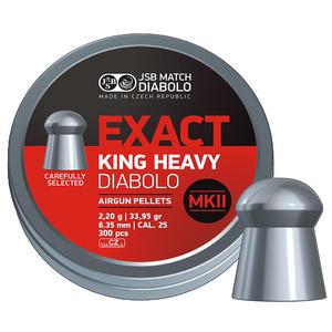 JSB Exact King Heavy Mark 2 II .25 6.35mm Pellets 300 Tin Preview