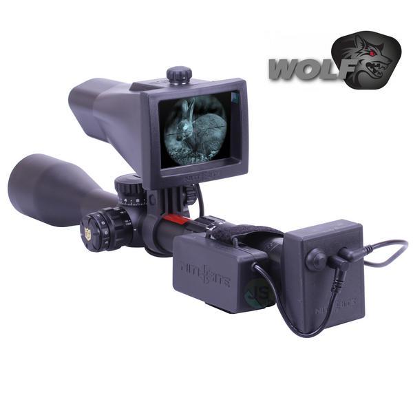 View Item Nite Site NiteSite Wolf Night Vision NV Conversion Kit Scope Mounted 300 Metres Range