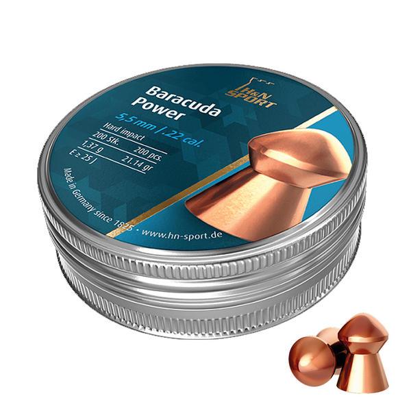View Item H&N Baracuda Power Copper Pellets [.22][5.5mm][200]