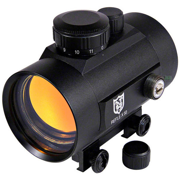 View Item Nikko Stirling 50mm Red Dot Sight - Weaver Picatinny RIS 20mm Fitting NRD50IM