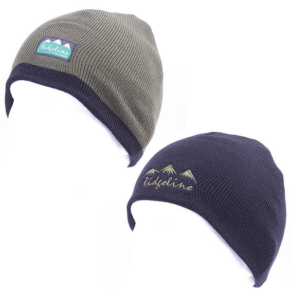 View Item Ridgeline Reversible Beanie Green / Black Hat Thermal Headwear One Size