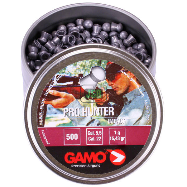 View Item DAMAGED TIN - Gamo Pro Hunter Impact Smooth Domed Pellets [.22] [15.43gr][500]