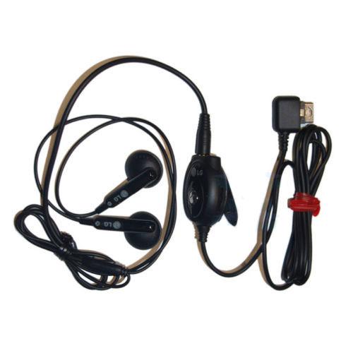 NEW GENUINE LG BLACK HANDSFREE IN EAR EARPHONE HEADSET ...