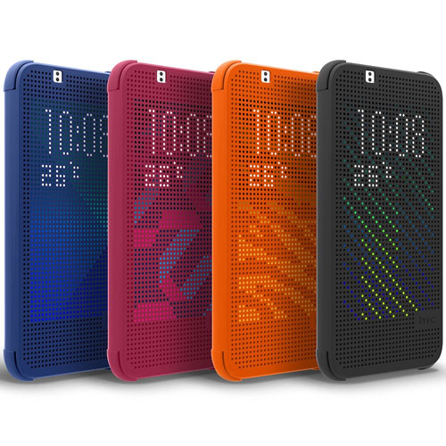 low priced ac809 fc28f Details about NEW GENUINE HTC DESIRE 510 DOT VIEW FLIP CASE COVER BLACK  GREY M130 99H11683-00