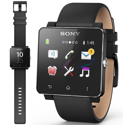 NEW GENUINE SONY SE20 LEATHER WRIST STRAP BAND FOR SMARTWATCH 2 IN BLACK b0f08c81076
