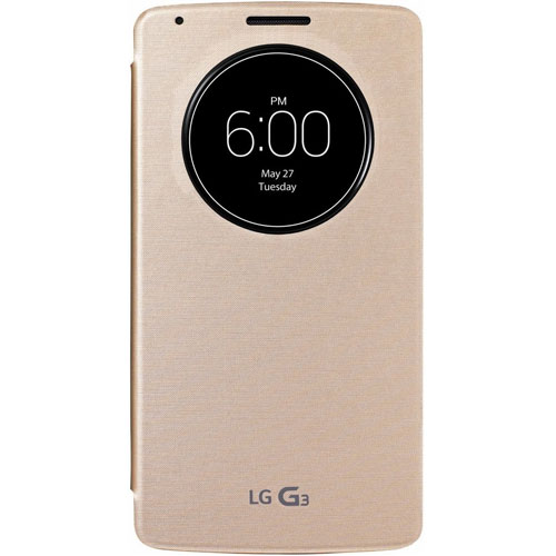 new product 3446f 416ed Details about NEW LG QUICK CIRCLE WIRELESS CHARGING FOLIO FLIP CASE FOR LG  G3 IN GOLD CCF-340G