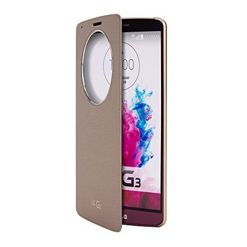 new product 66a43 d5da1 Details about NEW LG QUICK CIRCLE WIRELESS CHARGING FOLIO FLIP CASE FOR LG  G3 IN GOLD CCF-340G
