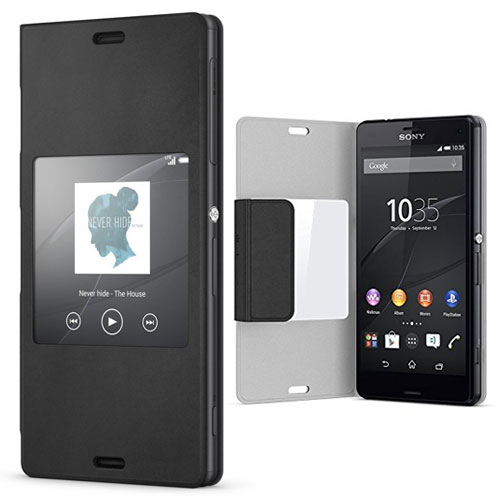 finest selection dbc28 c6230 Details about SONY SCR26 STYLE UP FLIP CASE COVER FOR XPERIA Z3 COMPACT IN  BLACK - 1287-5829
