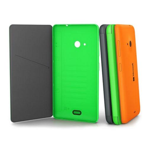 buy online 145d8 96eeb Détails sur Nouveau Nokia cc-3092 Microsoft Lumia 535 Orange Vif Flip Shell  cas 02744b0- afficher le titre d'origine