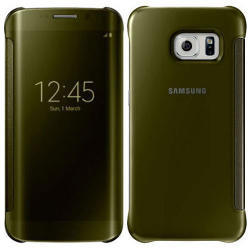 new product fc345 95781 Details about NEW OFFICIAL SAMSUNG GALAXY S6 EDGE CLEAR VIEW CASE COVER  GOLD EF-ZG925BFEGWW