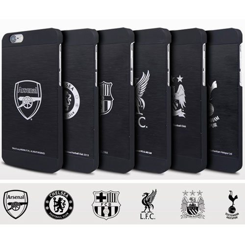 new product 1a302 a652e Details about NEW OFFICIAL INTORO ARSENAL FC ALUMINIUM IPHONE 6 FOOTBALL  CASE HARD COVER BLACK