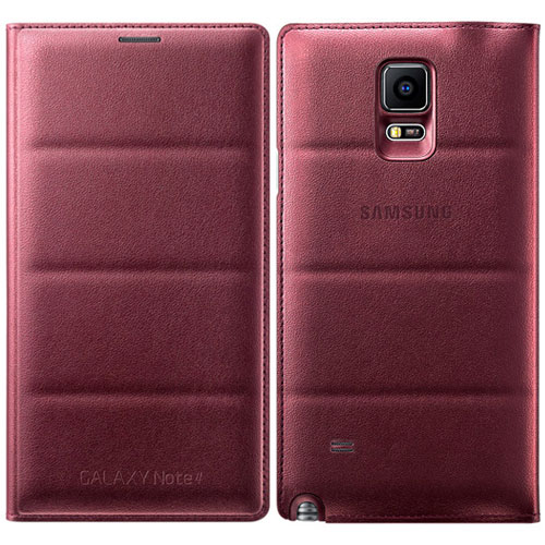 new concept b081c 55634 Dettagli su SAMSUNG Galaxy Nota 4 Patterned Flip Wallet Custodia Cover Plum  Red ef-wn910bregww- mostra il titolo originale
