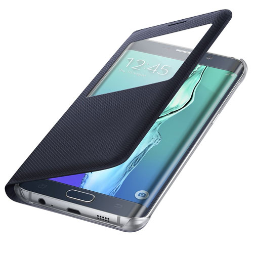 competitive price 78cc3 421f2 Details about NEW GENUINE SAMSUNG S-VIEW GALAXY S6 EDGE PLUS WALLET COVER  FLIP CASE BLUE BLACK
