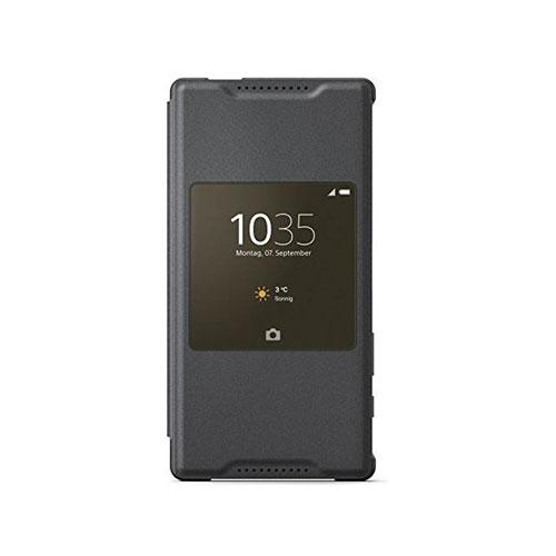 promo code c5a6f d861d Détails sur Nouveau Sony scr44 Xperia Z5 compact style fenêtre smart cover  cas flip stand noir- afficher le titre d'origine