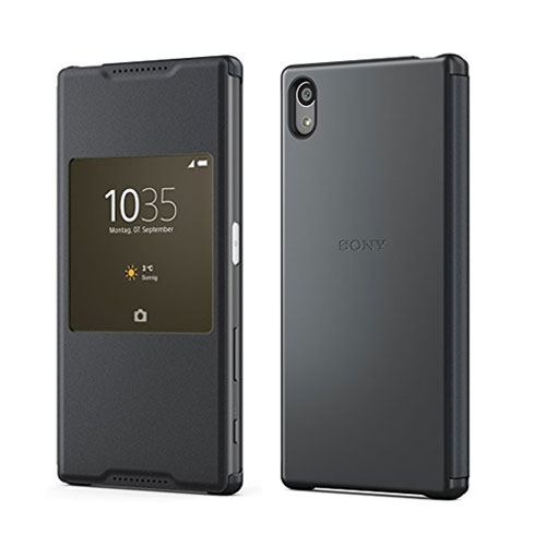 sale retailer 471f8 da19e Details about OFFICIAL SONY SCR42 XPERIA Z5 SMART STYLE UP PROTECTIVE FLIP  CASE COVER BLACK