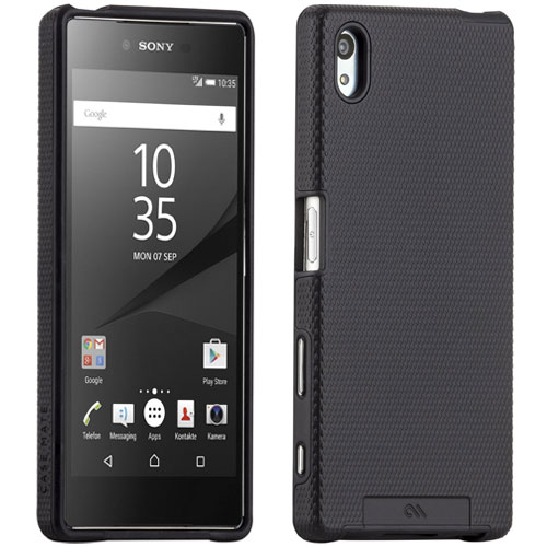 purchase cheap 12156 0d0ec Details about CASE-MATE TOUGH SONY XPERIA Z5 SLIM HARD CASE COVER SHELL IN  BLACK - CM033724